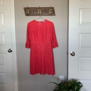 Draper James Floral Lace Shift Dress